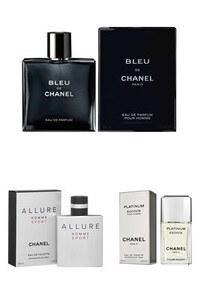 Konsantre Parfüm - Chanel En Sevilen Erkek Orijinal Parfüm Seti