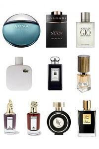 Konsantre Parfüm - Erkek Set - Tom Ford - Chanel - Versace - Viktor Rolf - D&G - Amouage - P.Rabanne - Valentino - Creed - V Canto