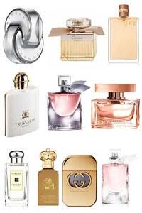 Konsantre Parfüm - Women Set - Bvlgari - Jo Malone - C.Christian - Chanel - Trussardi - Lancome - D&G - Chloe - Gucci - Lancome