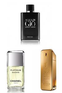 Konsantre Parfüm - Paco Rabanne - Giorgio Armani - Chanel Erkek Parfüm Seti